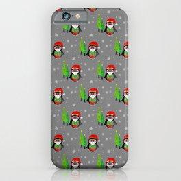 Festive Winter Penguin - Merry Christma iPhone Case