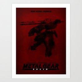 Metal Gear Rex Digital Ink-Blot Fan Art Minimalist Poster Art Print