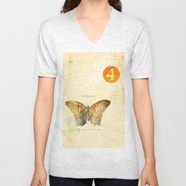 4 oclock butterfly  Unisex V-Neck