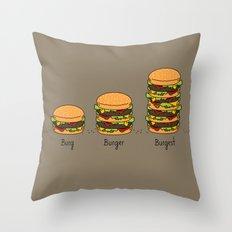 Burger explained. Burg. Burger. Burgest. Throw Pillow