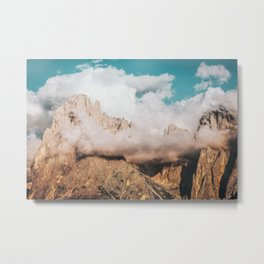 Mountains in Clouds.  Nature Landscape Photography Metal Print