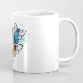 Morpho and Monarchs Butterflies Coffee Mug