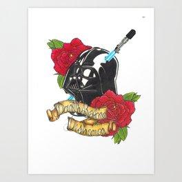 Darth before dishonour Art Print