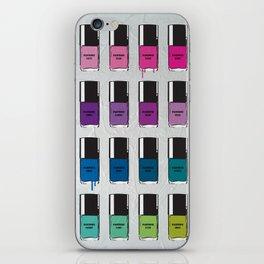 Pantone color Nail Polish No1 illustration original pop art graphic print iPhone Skin