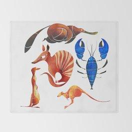 Australian animals 2 Throw Blanket