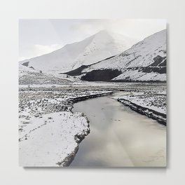 Snow Loch Metal Print