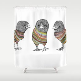 Baby chicken knit Shower Curtain
