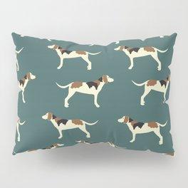 Tree Walker Coonhounds in Green Pillow Sham