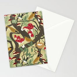 North American Forest Pattern (Natural) Stationery Cards