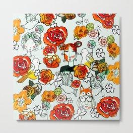 Flower girls Metal Print