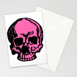 Hot Pink Pirate Skull, Vibrant Skull, Super Smooth Super Sharp 9000px x 11250px PNG Stationery Cards