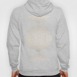 Mandala White Gold on Dark Gray Hoody