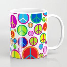 Colorful Peace Symbols Pattern Coffee Mug