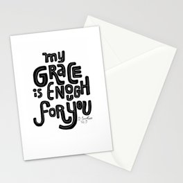 My Grace is Enough Stationery Cards