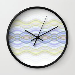 Interlaced (Blue) Wall Clock