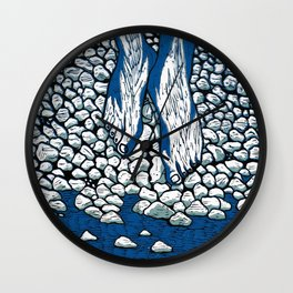 I Might Be A Part Of This Ripple On Water (3-Colour) Wall Clock