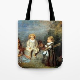 "Antoine Watteau ""Heureux age! Age d'or (Happy Age! Golden Age)"" Tote Bag"