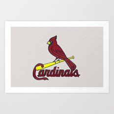 St. Louis Cardinals Logo Art Print