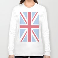 union jack Long Sleeve T-shirts featuring Union Jack by Alesia D