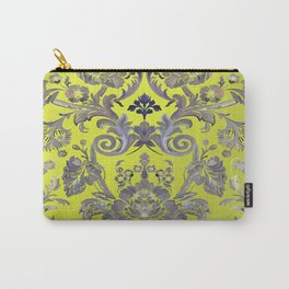 Painted Tibetan Brocade yellow Carry-All Pouch
