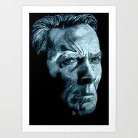 clint eastwood Art Prints featuring Clint Eastwood by artbyolev