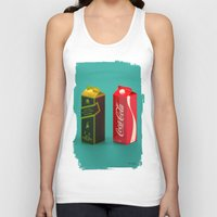 whisky Tank Tops featuring Whisky Cola by Maxim Kirienko Art