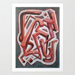 Formas del espacio 34 Art Print