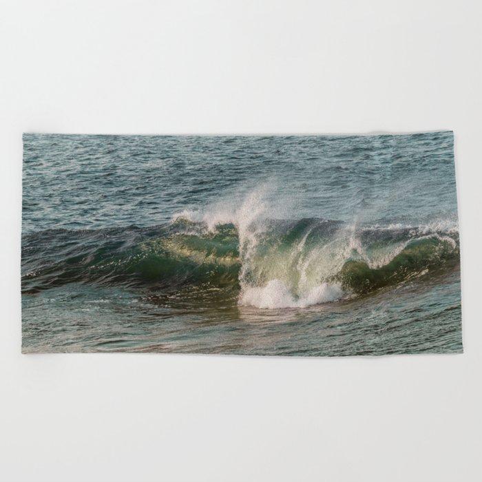 Wave at Bearskinneck Beach Towel