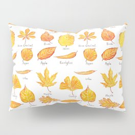 yellow leaves collection Pillow Sham