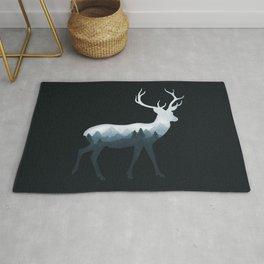 Deer Roe Fawn Elk Moose Double Exposure Surreal Wildlife Animal Rug