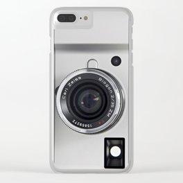 silver camera Clear iPhone Case