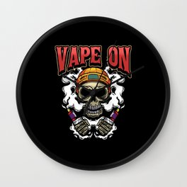 Vape Vaping E Cigarette Vaping Saying Gift Wall Clock