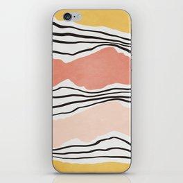 Modern irregular Stripes 01 iPhone Skin