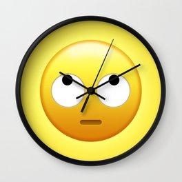 Emoji Eye Roll Wall Clock