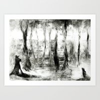 Dream view serie - In the wood Art Print