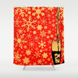 Pouring Christmas Wine Shower Curtain