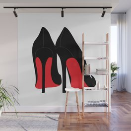 Red Bottom High Heel Fashion Stilettos Wall Mural