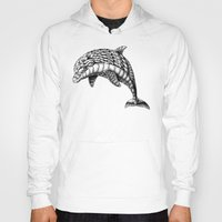 ornate Hoodies featuring Ornate Dolphin by BIOWORKZ