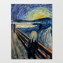 Scream on a Starry Night Canvas Print