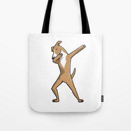 Funny Dabbing Greyhound Dog Dab Dance Tote Bag