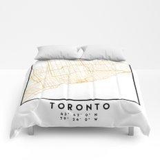 TORONTO CANADA CITY STREET MAP ART Comforters