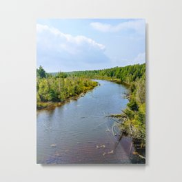 Around the River Bend Metal Print