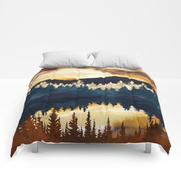 Fall Sunset Comforters