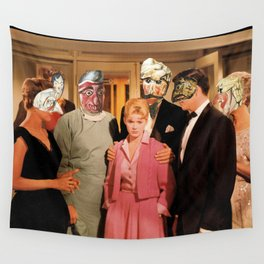 Mask Party Wall Tapestry