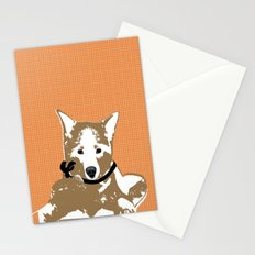 Akita Dog Illustration Stationery Cards