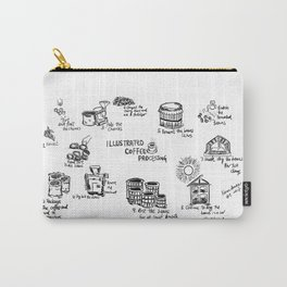 Illustrated Coffee Processing Carry-All Pouch