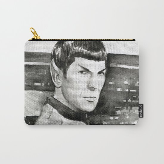 Spock Leonard Nimoy Portrait Sci-fi Geek Painting Carry-All Pouch