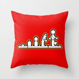 Lego Evolution  Throw Pillow