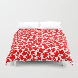 Canadian fall / Canadian flag maple leaf pattern Duvet Cover