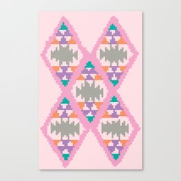 pixel kelim pattern Canvas Print
